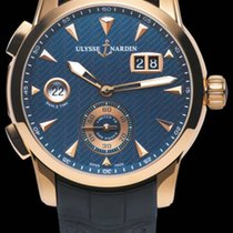 Ulysse Nardin CLASSIC DUAL TIME Pink Gold Dial Blue Edition...
