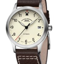 Mühle Glashütte Terrasport II Cream Dial-Brown Leather Strap...