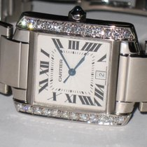 Cartier Tank Francaise 18K Solid White Gold Automatic Diamond