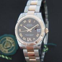 Rolex Datejust Rosegold / Steel Choco Diamond Dial NEW
