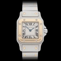 Cartier Santos Galbee Stainless Steel & 18k Yellow Gold...