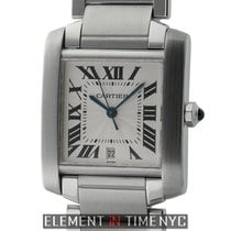 Cartier Tank Collection Tank Francaise Stainless Steel Large 28mm