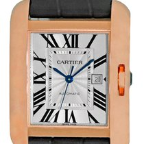 """Cartier """"Tank Anglaise"""" Automatic Strapwatch."""