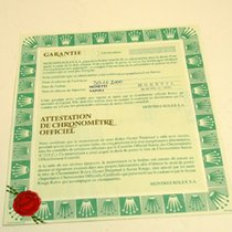 Rolex Warranty Certificate Ref: 16613
