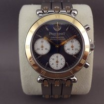 Pequignet Moorea Chrono steel/gold 38mm