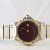 Cartier Santos Octagon Steel Gold 29mm Red Dial
