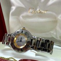 까르띠에 (Cartier) Must 21 Gold Steel Roman Bezel Lady Watch 30 mm