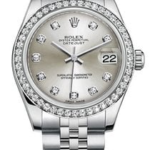 Rolex New Style Datejust Midsize Stainless Steel Custom...