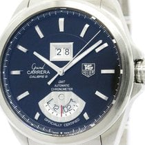 TAG Heuer Polished Tag Heuer Grand Carrera Gmt Steel Automatic...