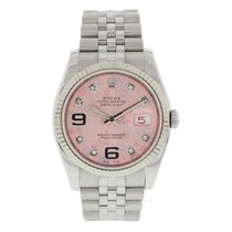 Rolex Oyster Perpetual Datejust Floral Diamond Dial 116234