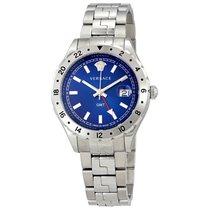 Versace Hellenyium GMT Blue Dial Men's Watch