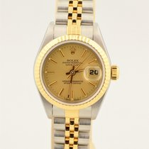 Rolex Datejust Two Tone 18k & Stainless Steel Champagne...