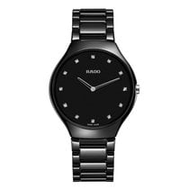 Rado R27741732 Ladies True Thinline Black Ceramic Watch