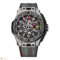 Hublot Big Bang Unico Ferrari Titanium Leather Skeleton...
