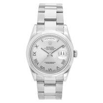 Rolex President Day-Date Men's 18k White Gold Watch 118209...
