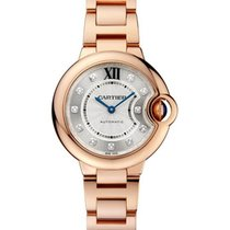 Cartier WE902062 Ballon Bleu 33mm with Diamond Dial - Rose...