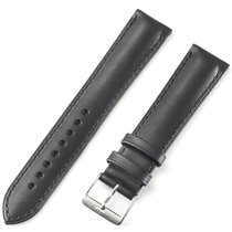Fortis Leather Strap Vintage Black T/t Brushed Pin Buckle...