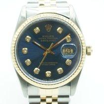 Rolex Datejust 36mm Two Tone Vintage Blue Diamond Dial