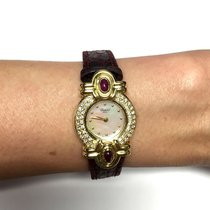 Chopard 18k Yellow Gold Ladies Watch W/ Mother Of Pearl Dial...