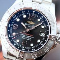 Breitling SuperOcean Steelfish GMT Limited Black Arabic Steel...