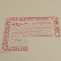 Tudor Warranty Certificate Ref: 76200