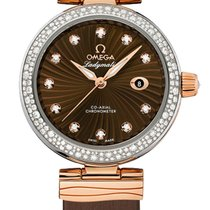Omega 42527342063001 De Ville Automatic Gold DIamonds Ladies