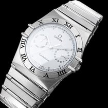 Omega Constellation Mens 35mm Day-Date Quartz Watch, White Dial