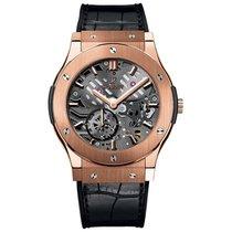 Hublot Classic Fusion 42mm Hand Wind 18K Rose Gold Mens Watch...