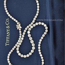 Tiffany & Co. Victoria Graduated Line Diamond Necklace....