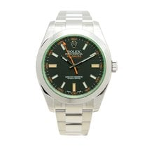 V.I.P. Time Watch Rolex Milgauss Stainless Steel Black...