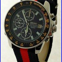 Seiko 7T32-7H00 Racing 100M Chronograph Alarm Date 40mm Steel