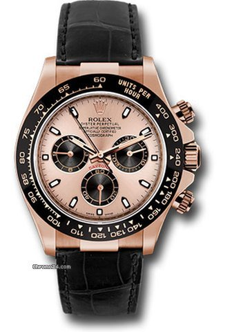 Rolex Daytona Rose Gold With Leather Strap