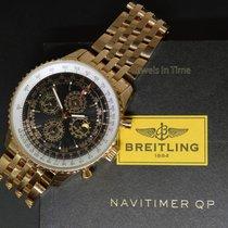 百年靈 (Breitling) Navitimer QP 48 Perpetual Chronograph 18k Rose...