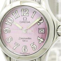 Omega Polished Omega Seamaster 120m Mop Dial Quartz Ladies...