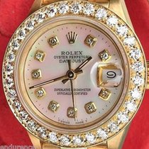 Rolex President Ladies 18k Gold 69178 Mother Of Pearl Pink...