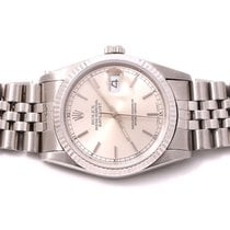 Rolex Mens 16234 Datejust - Silver Dial - Jubilee Band No...