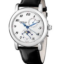Montblanc 110642 Star Twin Moonphase 42mm Automatic in Steel -...