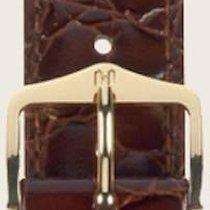 Hirsch Uhrenarmband Leder Crocograin braun M 12302810-1-13 13mm