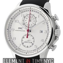 IWC Portuguese Collection Yacht Club Chronograph Silver Arabic...