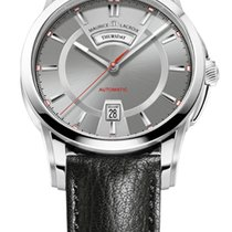 Maurice Lacroix Pontos Day/Date Grey Dial, Red Seconds, Black...
