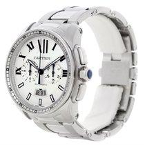 Cartier Calibre Steel Chronograph Mens Watch W7100045 Unworn