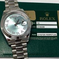 Rolex Platinum Day Date II 218206 $10k Factory Diamond Dial