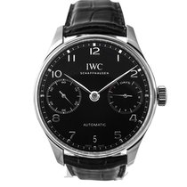 IWC Portugieser Automatic Black Stainless Steel 42.3mm - IW50070