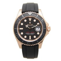 勞力士 (Rolex) Yacht Master 18k Rose Gold Black Automatic 116655BK