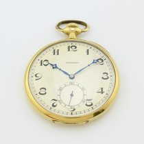Longines Vintage Manual Winding Packet Watch 18K Gold 40mm