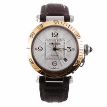 Cartier Pasha Two Tone Automatic Watch W3103555 (Pre-Owned)