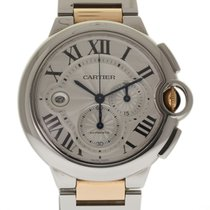 Cartier Ballon Bleu 44mm XL Steel Gold W6920063 Auto Box/Paper...