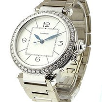Cartier WJ1202M9 Pasha 42mm in White Gold with Diamond Bezel -...