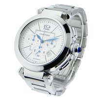 Cartier W31085M7 Pasha 42mm Chronograph - Steel on Bracelet