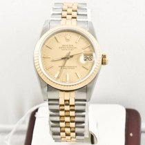 Rolex Lady-Datejust 68273 Midsize Champagne Face Box &...